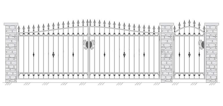 Кованые ворота в СПБ - СтройПрогресс